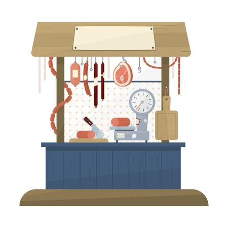 fillet steak: Butchers shop icon in flat design. Vector illustration Illustration