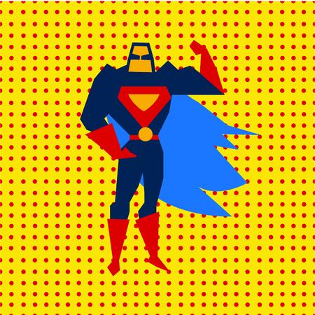 marvel: Gerade gelandet Super-Helden aus Comics im flachen Design, Vektor-Illustration