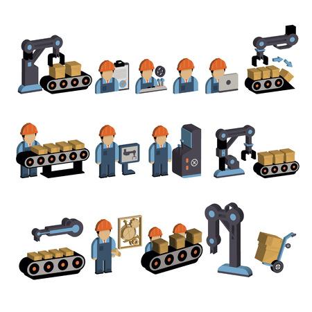 illustration collection: Set of logistics icons in flat design, vector illustration collection