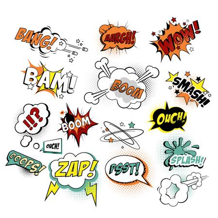 comic: ilustración Comics Textos, estilo del arte pop. Vectores
