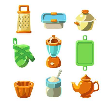 cooking utensils: Cooking Utensils, kitchen items Vector Illustration Collection Illustration