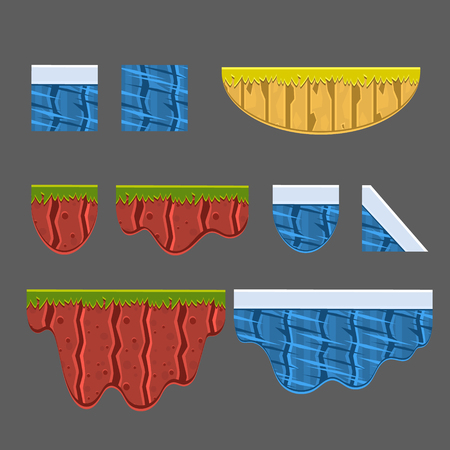 textures: Textures for Platformers Vector Illustration Collection Elements for landscape