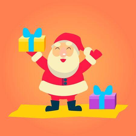 degraded: Merry christmas Vector Illustration of Santa Claus Illustration