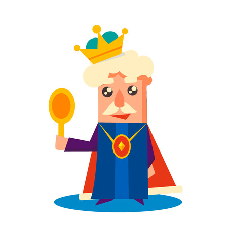 scepter: King Cartoon character, Emotion Vector Illustration Set