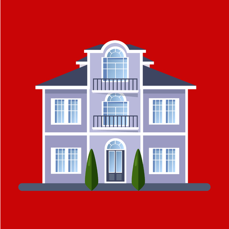 houses: Colorful Flat style Residential Houses vector illustration