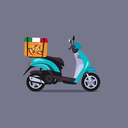 scooter: concepto de scooter moto estilo de ilustraci�n vectorial plana