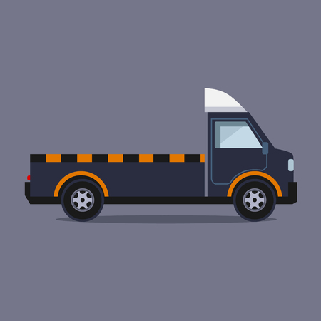 faulty: Truck for transportation faulty and emergency cars vector Illustration