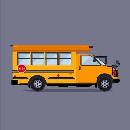 ni�o escuela: concepto autob�s escolar ilustraci�n vectorial de estilo plano Vectores