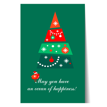 paper background: Banner Christmas card templates Posters. Vector illustration. Illustration