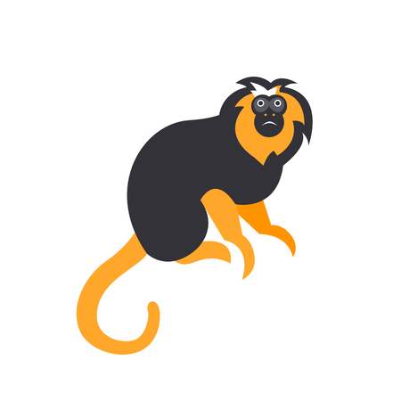 abstract gorilla: Cute monkey icon, logo, symbol. Vector illustration isolated on a background. Illustration