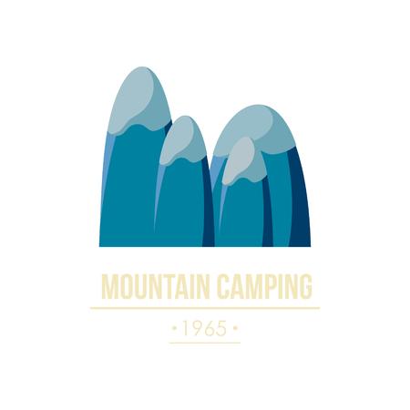 mountain road: Majestic mountain peak vector illustration in flat style Illustration
