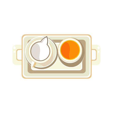 black tea: Black Tea and Water. Colourful Vector Illustration Illustration