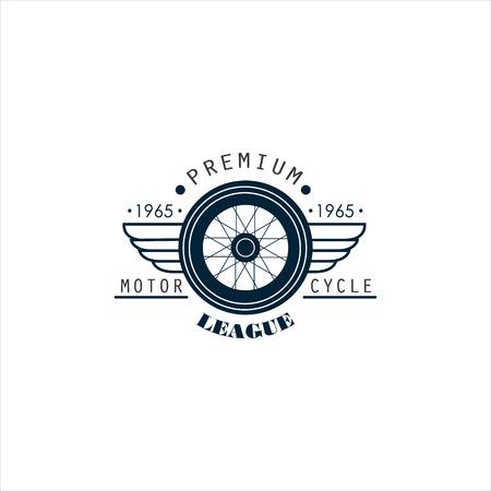 Badges, emblemen Motorcycle Collecties vector set