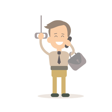 gestion documental: Businessman success vector illustration in flat style