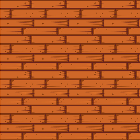 red brick: Red Brick Wall Seamless Vector Illustration Background