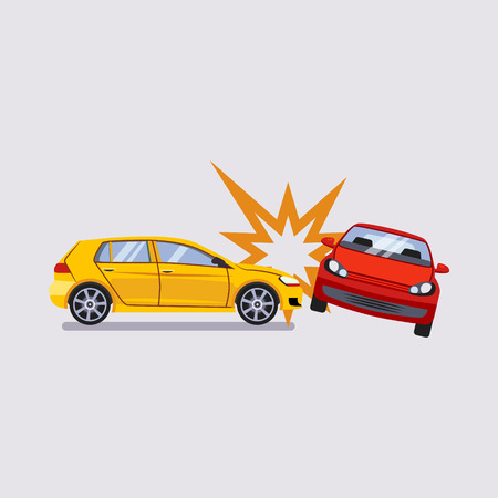 Car Insurance and Accident Risk Colourful Vector Illustration