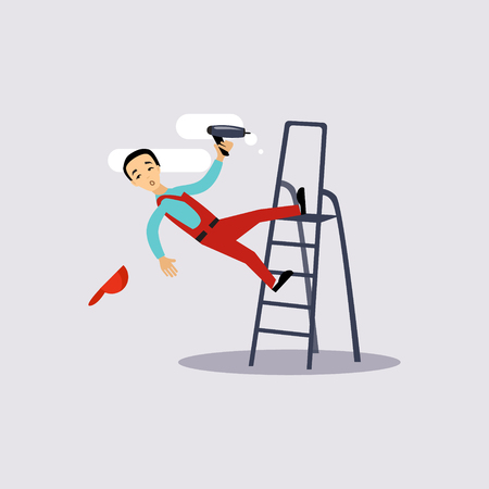injuries: Injury at Work Insurance Colourful Vector Illustration