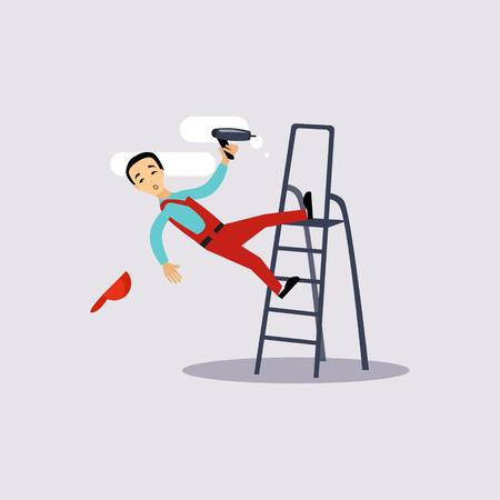 Injury at Work Insurance Kleurrijke Vector Illustration