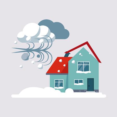 windstorm: Hurricane Insurance Colourful Vector Illustration flat style