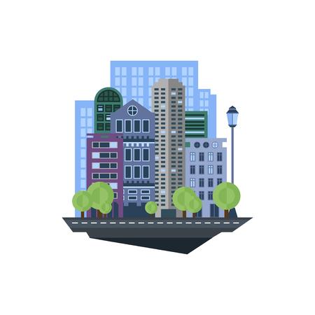 Paisaje urbano moderno. Ilustración de vector