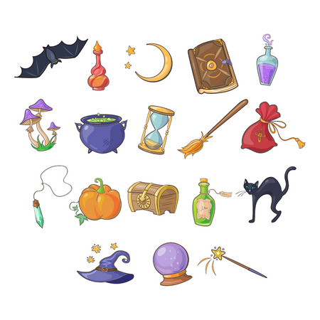 haloween: Haloween and Game Vector Collection magic icons