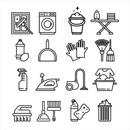 household appliances: Household Appliances and Tools Icons Vector Set