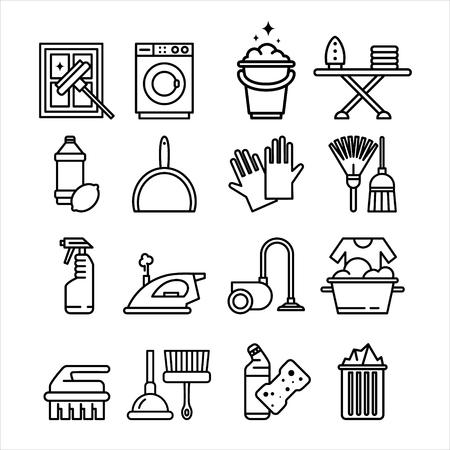 Huishoudelijke apparaten en gereedschap iconen Vector Set