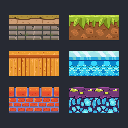 wood textures: Different materials and textures for the game set