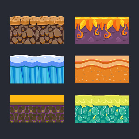 textures: Different materials and textures for the game set