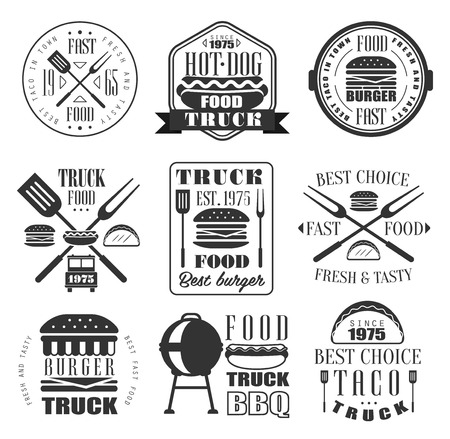 american vintage: Burger and Fast Food Icon Vector Collection.