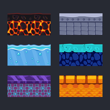 material: Different materials and textures for the game set