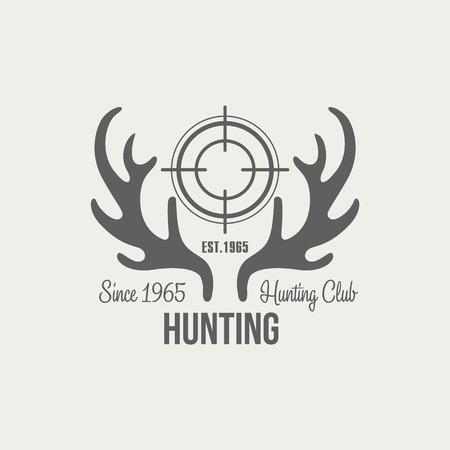 seal gun: Hunting Vintage Vector Emblems, Icons and Badges. Vector Illustration
