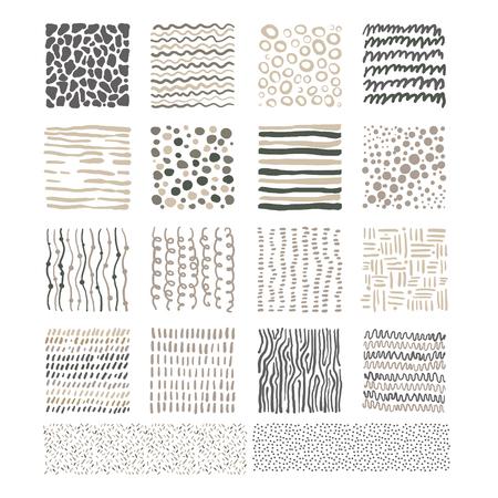 handdrawn: Handdrawn Doodle Textures, Black and White Vector Illustration Set