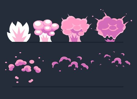 animation: Explosion, Cartoon Explode effect animation. Cartoon explosion frames Vector Illustration