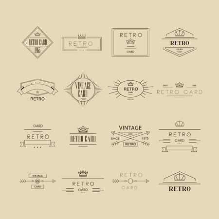 logotypes: Retro Design Insignias Labels, Logotypes Set. Vector Elements Illustration Collection.