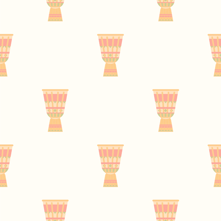 pastel shades: Tribal Drum Print. Seamless Vector Illustration Pastel shades background