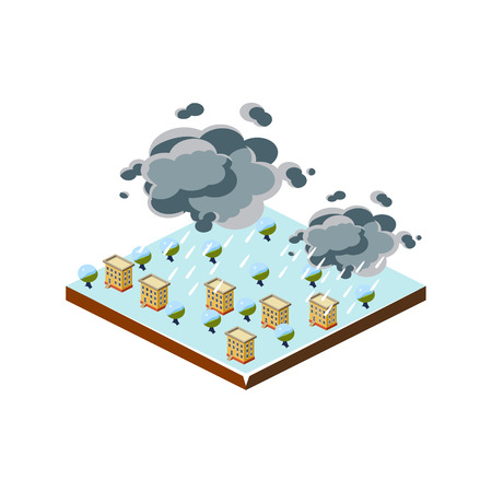icon 3d: Snowstorm Natural Disaster Icon. 3d Vector Illustration
