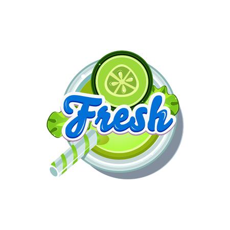 cucumber: Cucumber Fresh. Fruity Vector Illustration isolated on white Background
