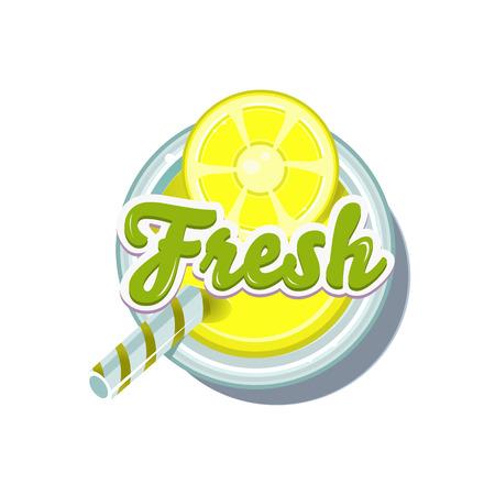 fruity: Lemon Fresh. Fruity Vector Illustration isolated on white Background