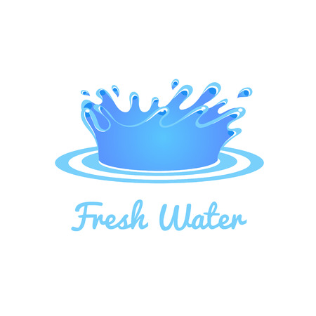 fresh water splash: Fresh Water Splash. Vector Illustration Collection Badges and Stickers