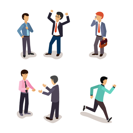 daily: Business People. Everyday Life. Vector Illustartion Collection Illustration