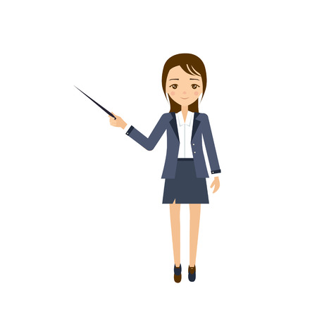 choice concept: Teacher Flat Vector Illustration. Career choice concept