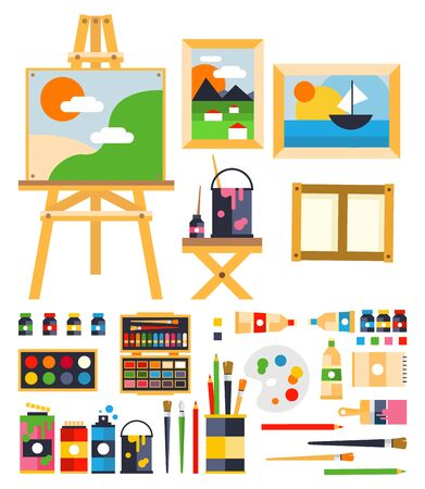 sketchpad: Painting Set icon. Flat Vector Illustration Collection
