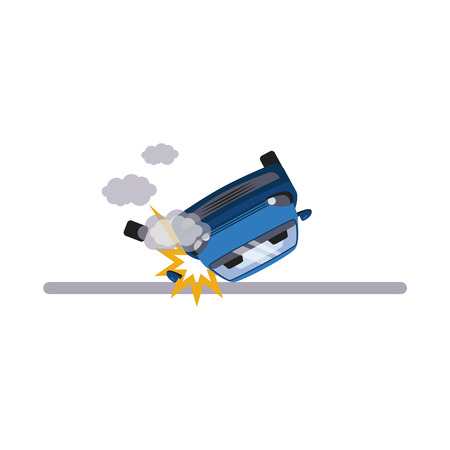 Voiture et transport Problème. Flat Vector Illustration