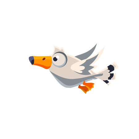 albatross: Vector Design Cute Great Albatross Mid-air On White Background