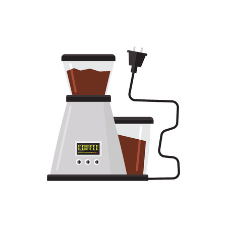 percolator: Coffee Machine Simplified Graphic Flat Vector Illustration Isolated On White Background