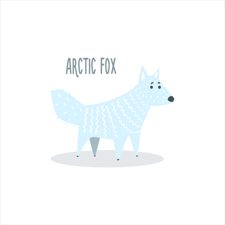 arctic: Arctic Fox Drawing For Arctic Animals Collection Of Flat Vector Illustration In Creative Style On White Background