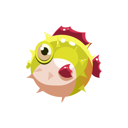 puffer: Puffer. Cute  Illustration Collection of sea life Illustration