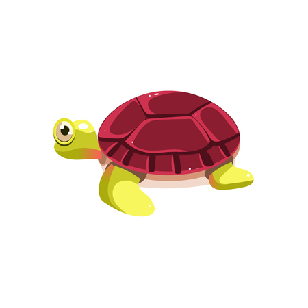 sea life: Sea Turtle. Cute Illustration Collection of sea life