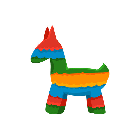 pinata: Traditional Mexican Pinata  Isolated Flat Vector Cute Illustration On White Background